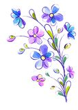 Vertical background with bright violet flowers Stock Image