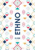 Vertical background with geometric ethnic ornament. ethno abstract poster template with place for text.  vector illustration