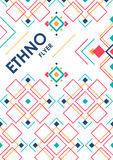 Vertical background with geometric ethnic ornament. ethno abstract poster template with place for text.  royalty free illustration