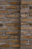 Vertical Background Pattern of Old Brick Wall Texture Stock Photos