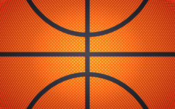 Vertical ball texture for basketball, sport background, vector illustration Royalty Free Stock Photos