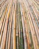 Vertical bamboo wall Royalty Free Stock Photo