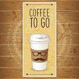 Vertical banner with coffee cup Stock Image