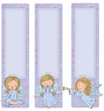 Vertical banner with cute angels Stock Photography