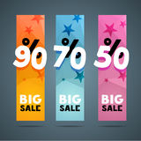 Vertical banner design template with discount. Royalty Free Stock Photography