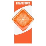 Vertical Banner of grapefruit square slice. Space Royalty Free Stock Images