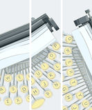 Vertical banner of illustration of typewriter. Royalty Free Stock Image