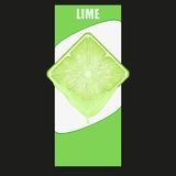 Vertical Banner of lime square slice. Space for Royalty Free Stock Photo