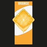 Vertical Banner of orange square slice. Space for Royalty Free Stock Image