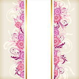 Vertical banner with pink flowers Stock Photos
