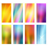 Vertical banner set design element background glow abstract. Design elements presentation template. Set vertical banners background, backdrop blur glow light Royalty Free Stock Images