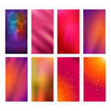 Vertical banner set design element background glow abstract  Royalty Free Stock Photography