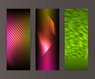 Vertical banner set design element background glow abstract  Stock Photo