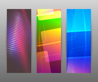 Vertical banner set design element background glow abstract  Royalty Free Stock Photo