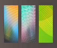 Vertical banner set design element background glow abstract  Royalty Free Stock Photos