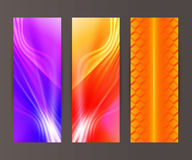 Vertical banner set design element background glow abstract  Royalty Free Stock Image