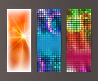 Vertical banner set design element background glow abstract. Design elements presentation template. Set vertical banners background, backdrop mosaic glow light vector illustration