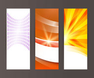 Vertical banner set design element background glow abstract  Royalty Free Stock Images
