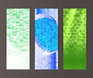 Vertical banner set design element background glow abstract shap Royalty Free Stock Images