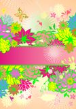 Vertical banner with summery flowers Royalty Free Stock Photography