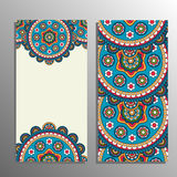 Vertical banner with tribal ornament Royalty Free Stock Photo
