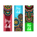 Vertical banner for yoga club Stock Photo