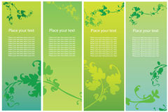 Vertical banners. Collection of four vertical floral banners Stock Photo