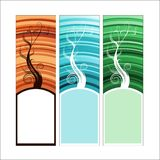Vertical banners. Vertical banner with three color variations Royalty Free Stock Photography