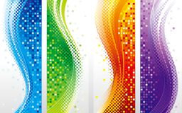 Vertical Banners Background Set Stock Images