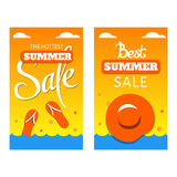 Vertical banners best summer sale royalty free illustration