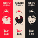 Vertical banners with a cock. Royalty Free Stock Image