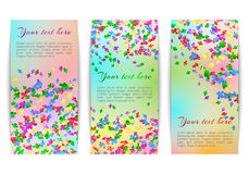 Vertical banners with confetti Stock Images