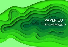 Vertical banners with 3D abstract green background with paper cut shapes. Vector design layout for business. Presentations, flyers, posters and invitations Stock Images