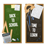 Vertical Banners Mathematic Science Royalty Free Stock Images
