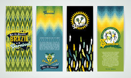Vertical banners set with Brazil Carnival Backgrounds. Stock Photo
