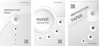 Vertical banners set in paper style royalty free illustration