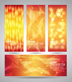 Vertical banners set with polygonal abstract shapes Royalty Free Stock Photos