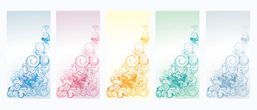Vertical banners set with vortex#2 Stock Images
