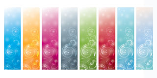 Vertical banners set with vortex Stock Photo