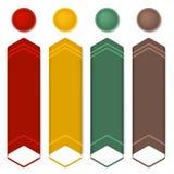 Vertical-bannière-ensemble-information--flèche-isolé Photographie stock
