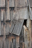 Vertical Barn Wood Shingles. Vintage aged barn wood shingles for backgrounds and textures. Vertical shingles in a vertical layout royalty free stock photo