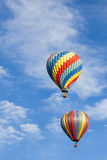 Vertical - Beautiful Hot Air Balloons Against a De Stock Photos