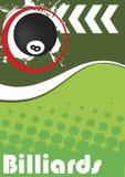 Vertical billiard poster Stock Images