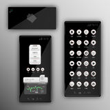 Vertical black buttons smartphone Royalty Free Stock Photography
