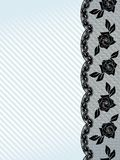 Vertical black French lace background Royalty Free Stock Image