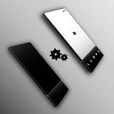 Vertical black repair buttons smartphone Stock Photos