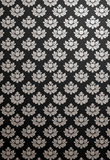 Vertical black and silver glamour pattern Royalty Free Stock Photography