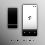 Vertical black smartphone Royalty Free Stock Image