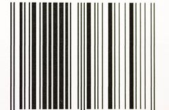 Vertical black and white bar code close up macro royalty free stock photography