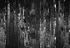 Vertical black and white night city abstract illustration Royalty Free Stock Photo